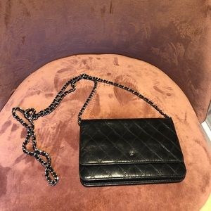 Chanel Wallet with silver chain